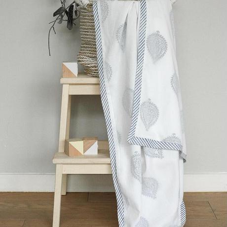 LIMITED SET//BLOCK PRINT TOWEL & DOHAR BLANKET