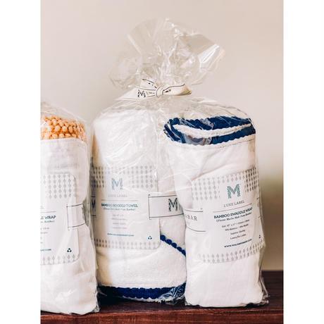 LIMITED SET//Bamboo POMPOM TOWEL+SWADDLE