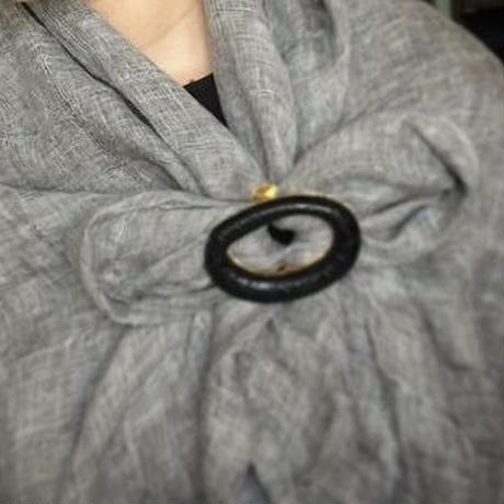 IDEA SCARF RING  BLACK クロコダイル
