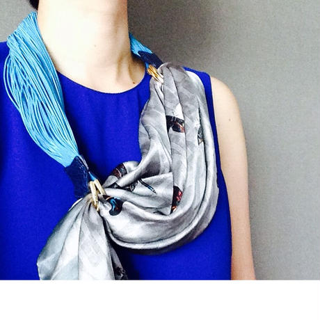 HYLAS SCARF BELT BLUE