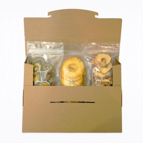 【送料無料】パイン・キウイ・厚切りりんごの3種セット