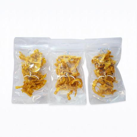【送料無料】無砂糖・無添加 パインの皮きわ(40g)  3袋セット