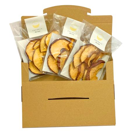 【送料無料】小袋タイプ 無砂糖・無添加 厚切りりんご(25g) 3袋セット
