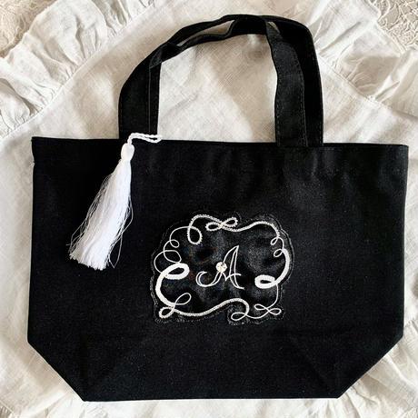 【イニシャルオーダー】イニシャル刺繍 ミニトートバッグ