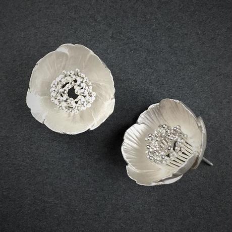 Camellia Japonica earring(SV) 藪椿ピアス(SV)