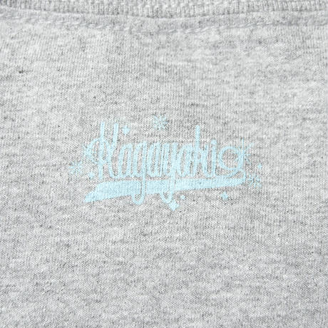 「kagayaki」 logo by ESOW   ポケットtee  /  gray × light blue