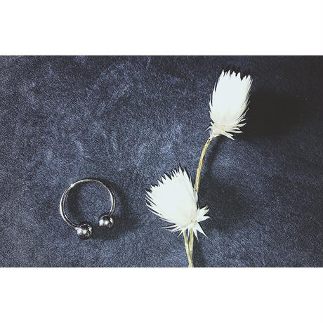 Silver  Sphere Open Ring