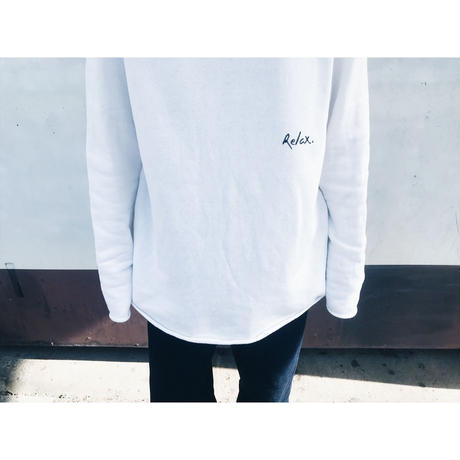 Cut Off Logo Sweat(White)