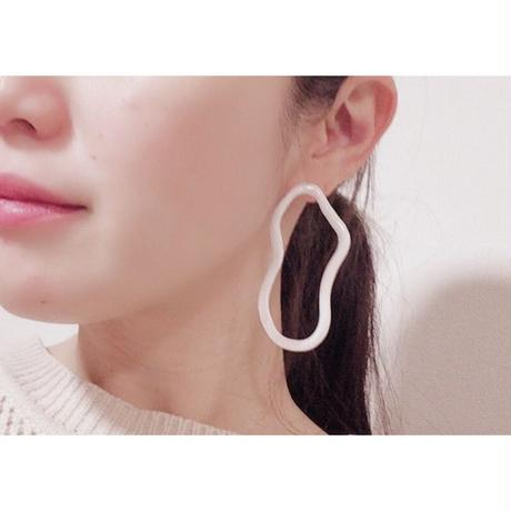 Uneven Oval Earrings(light gray)