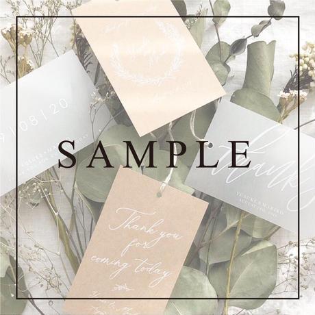 《SAMPLE》【サンクスタグ】ホワイトインク card