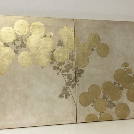 菊図2枚組