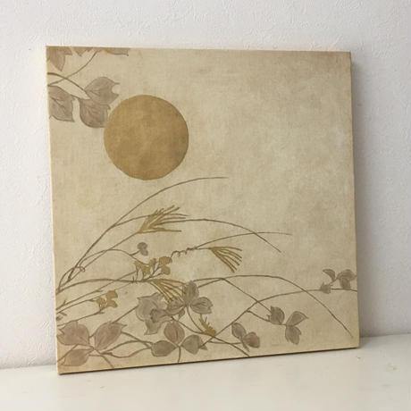 月と秋草図