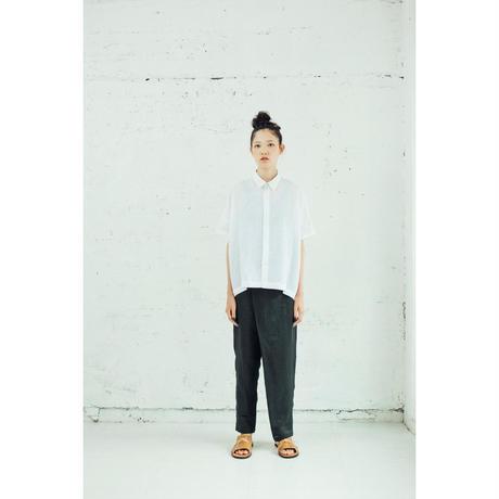 no.9リネンの台襟付きシャツカラー