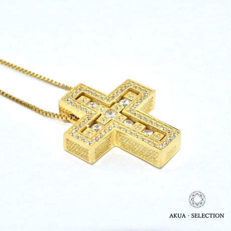 S925 22KGP separate cross necklace No.1