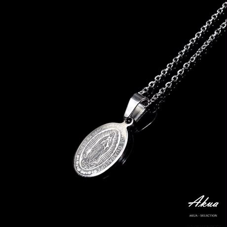 Maria coin necklace silver stainless steel №13