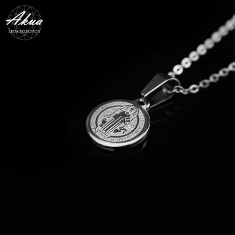 Maria ⅽoin necklace silver stainless steel №24