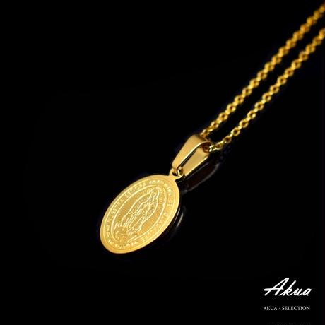 Maria coin necklace gold stainless steel
