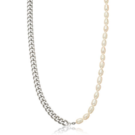 Natural freshwater pearl 喜平 necklace silver