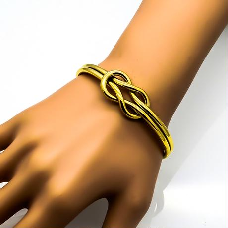 Double knot bangle gold stainless steel №55