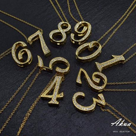 S925 22KGP number necklace gold No.7