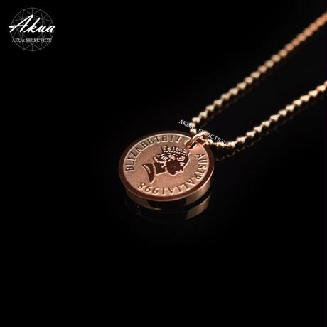 Elizabeth necklace pink gold stainless steel №41