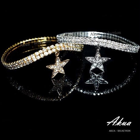 Zirconia star anklet gold or silver №15