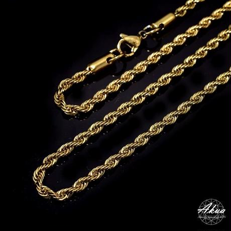 316L   Stainless steel chain gold №37