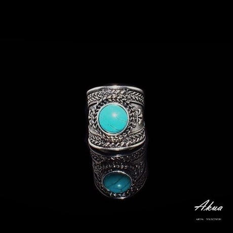 turquoise ring silver №32
