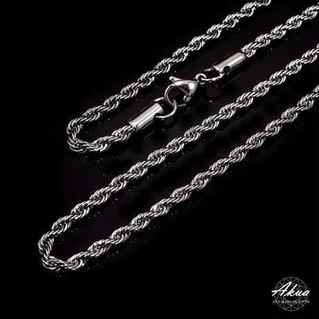 316L  Stainless steel chain silver №38