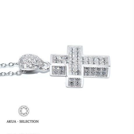 S925 CZ diamond cross necklace silver №6