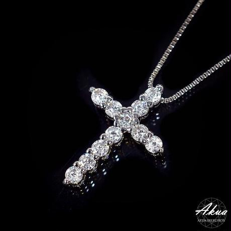 S925 CZ daiamond cross necklace silver №14