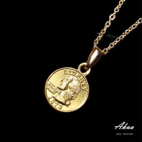 Coin necklace gold №36