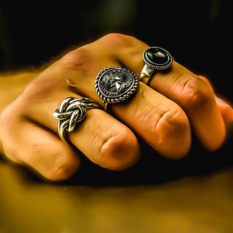silver 925 coin ring №61
