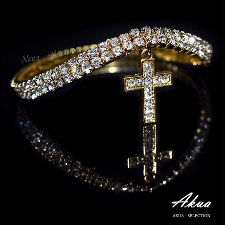 Zirconia cross anklet gold or silver №16
