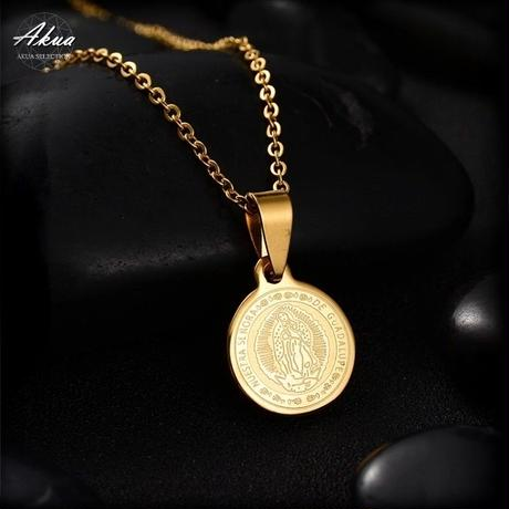 Maria coin necklace gold stainless steel №15