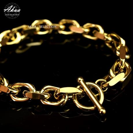 Chain bracelet gold stainless steel №31