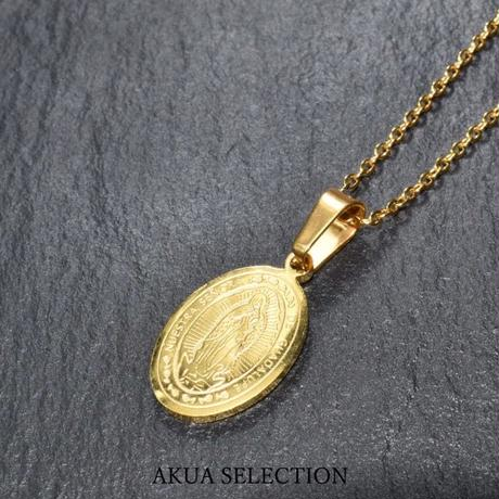 Maria coin necklace gold stainless steel №17