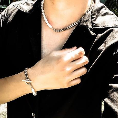 Natural freshwater Pearl 喜平bracelet silver