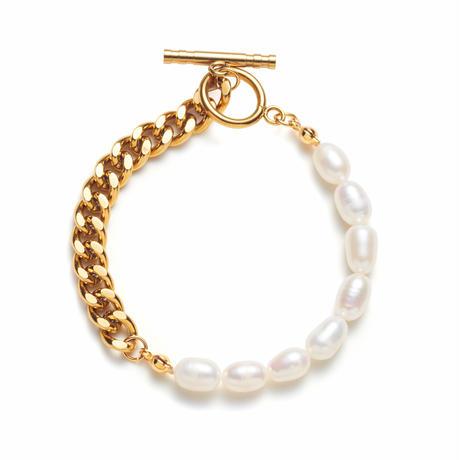 Natural freshwater Pearl 喜平bracelet gold