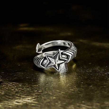 silver 925 star design ring №57