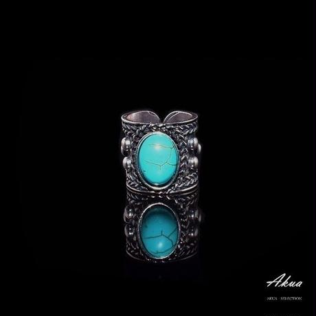 turquoise ring silver №34
