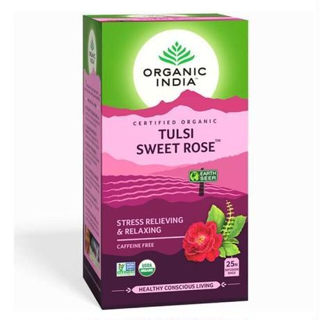 トゥルシー スイートローズティー 25袋 オーガニックインディア TULSI SWEET ROSE TEA 25 Tea Bags【ORGANIC INDIA】