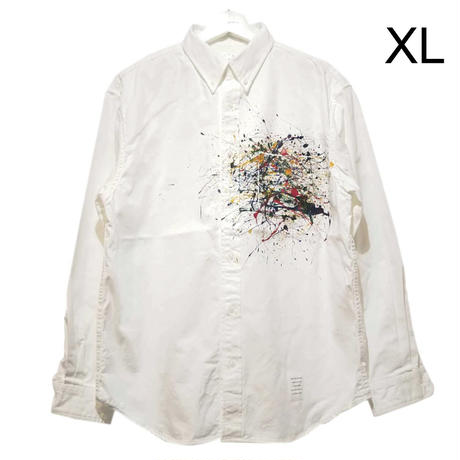 Splash paint button down shirt  / pocket