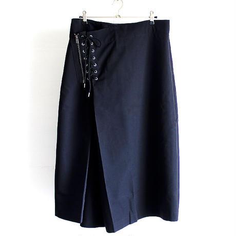 【AS SUPER SONIC】 ウエストZIP×編み上げデザイン変形袴パンツ