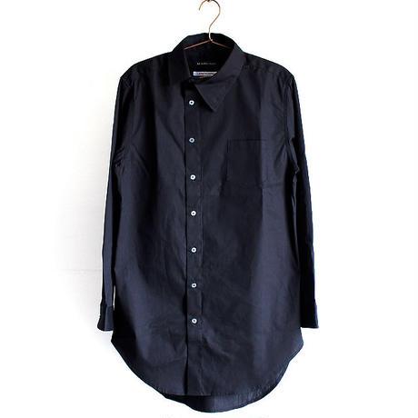 【AS SUPER SONIC】 アシンメトリーカラーロング丈ドレスシャツ