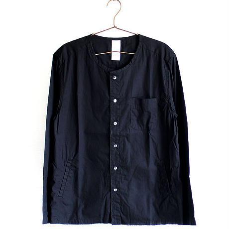 【albino】 カットオフ×ワッシャー加工ノーカラーシャツ  のコピー