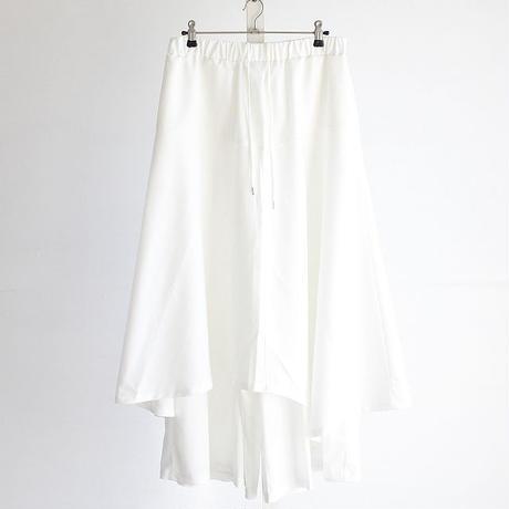 【albino】 アシメロングスカート付きワイドパンツ