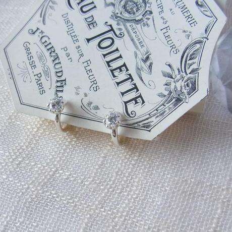 [Silver]キュービックジルコニアのイヤリング