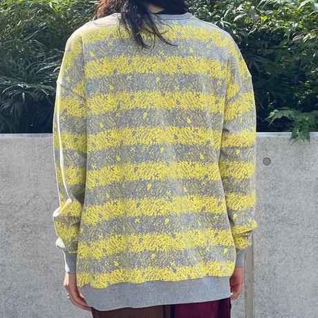 Skull Border Sweat(Yellow)