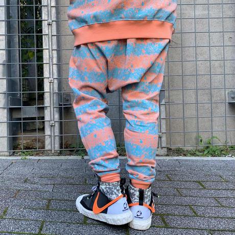 Skull Border Saluel Pants(Orange)